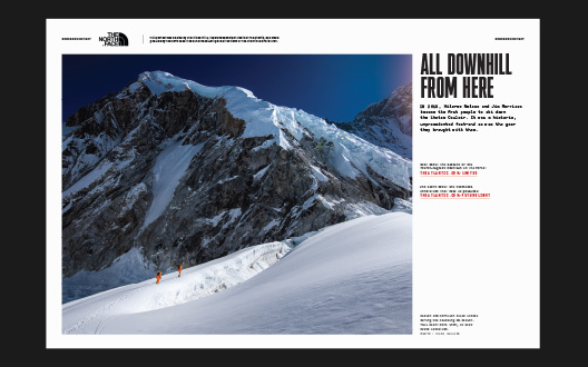 The North Face print advertisement in The Atlantic
