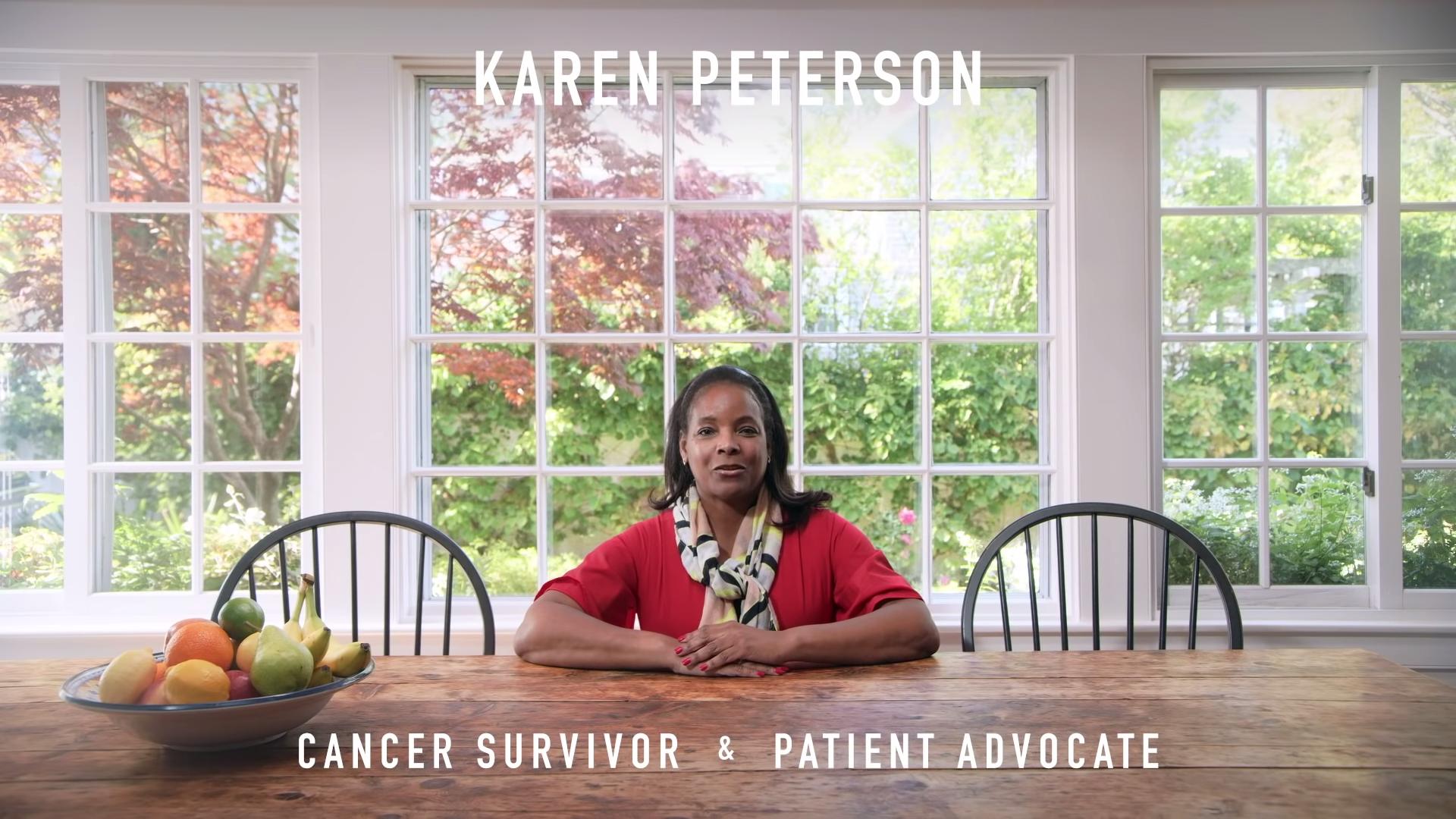 Karen Peterson, cancer survivor, patient advocate.